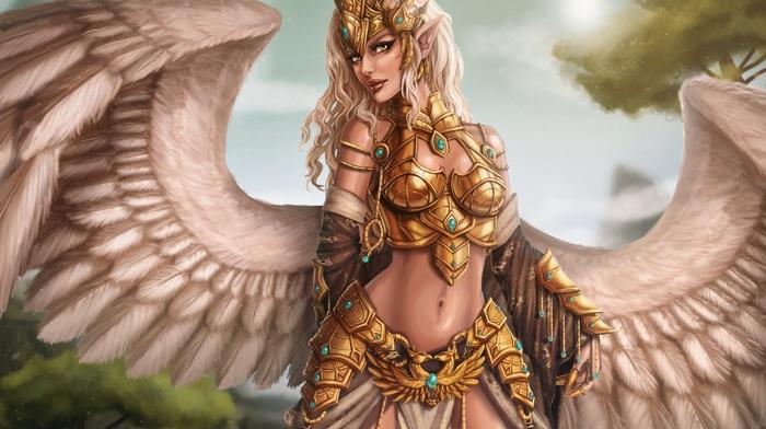 fantasy art, angel