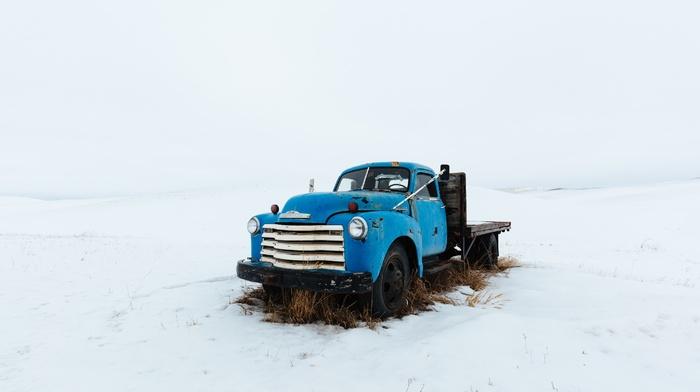 vehicle, snow, Truck, winter, car, Chevrolet