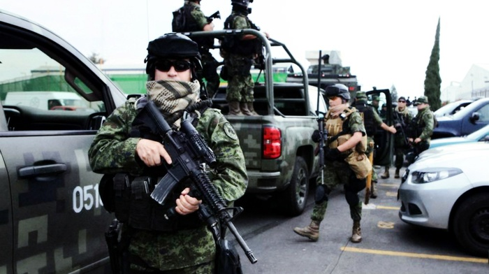 M4, soldier, Mexican police, army, Mexican soldier, military, Mexico
