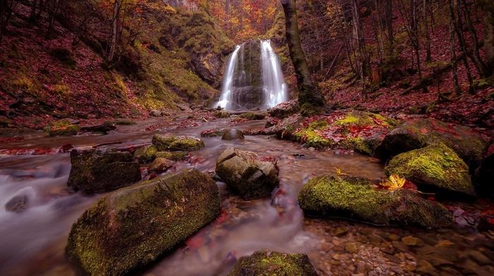 waterfall, landscape