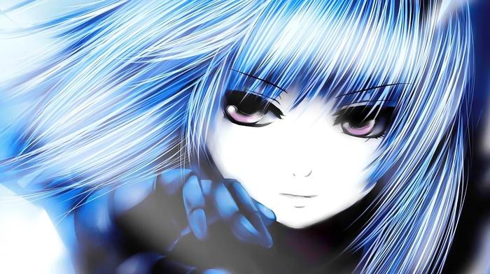 coffee, Kizoku, King of Fighters, gloves, face, anime, manga, blue hair, Kula Diamond, anime girls