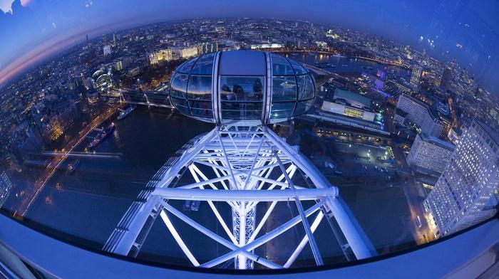England, london eye, cityscape, city, London, ferris wheel