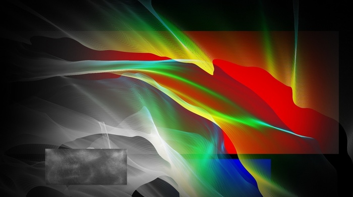 abstract, rectangle, geometry, wavy lines, digital art, colorful