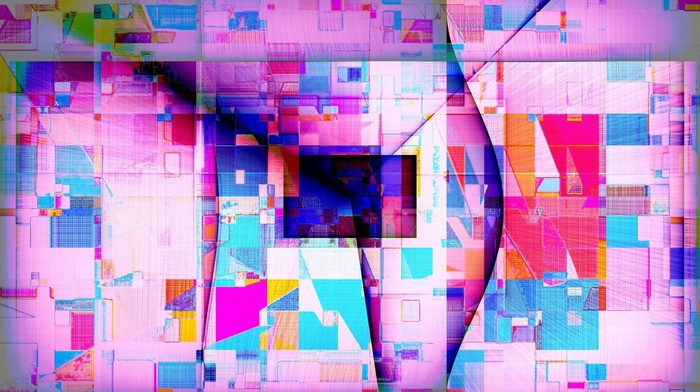 triangle, colorful, geometry, lines, abstract, square, digital art, rectangle, pink
