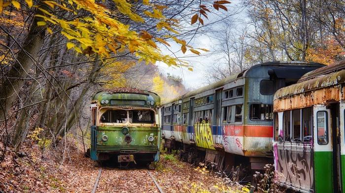 vehicle, train, wreck