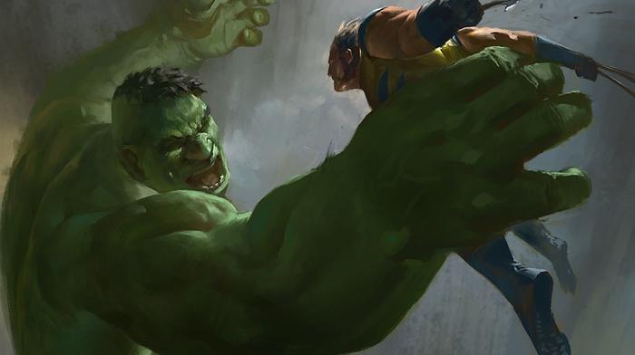 Wolverine, Hulk, artwork