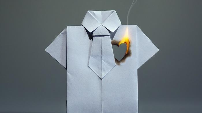 heart, paper, fire, shirt