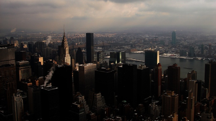 skyscraper, USA, city, New York City, overcast, cityscape