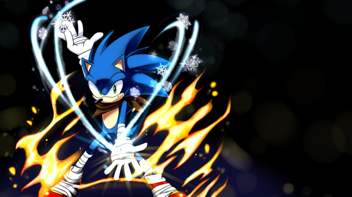 Sonic the Hedgehog, fire, Sonic Boom, Sonic, ice
