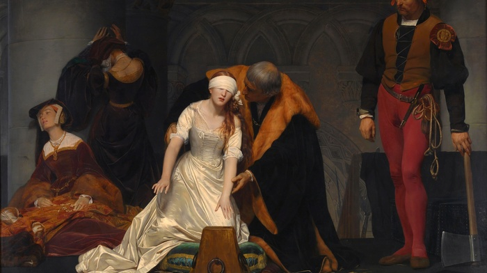 painting, Paul Delaroche, Le supplice de Jane Grey