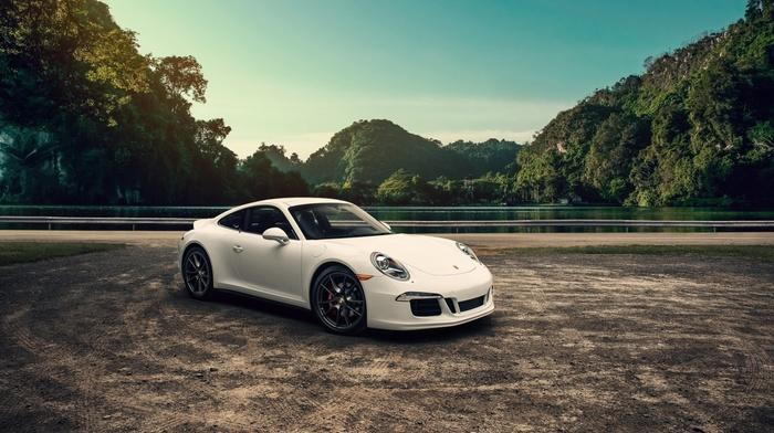 white cars, vehicle, car, Porsche