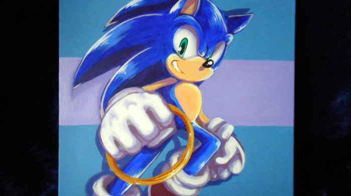 Sonic the Hedgehog, painting, Sonic