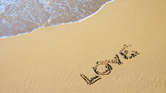 romance, water, waves, love, coast, shore, beach, sea, romantic, sand