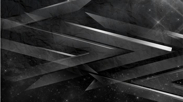 abstract, digital art, 3D, minimalism, monochrome, stars, dots