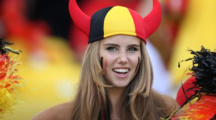 freckles, face paint, hat, horns, Axelle Despiegelaere, Belgium, girl