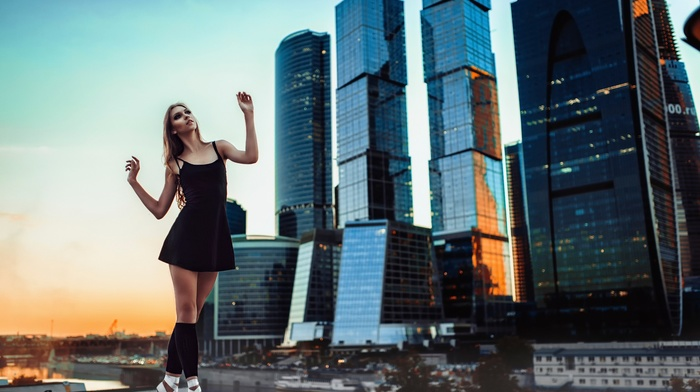 Moscow, ballerina, city, girl