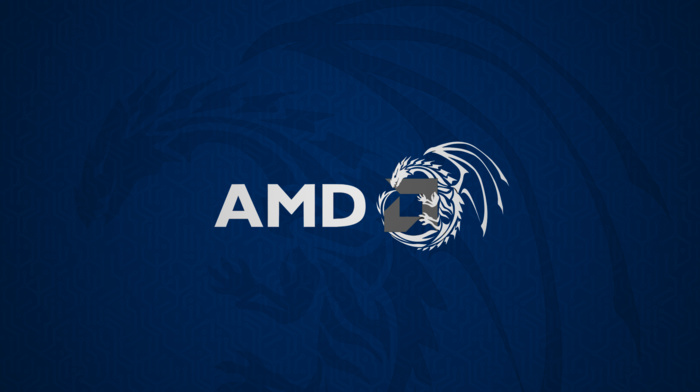 dragon, AMD, blue