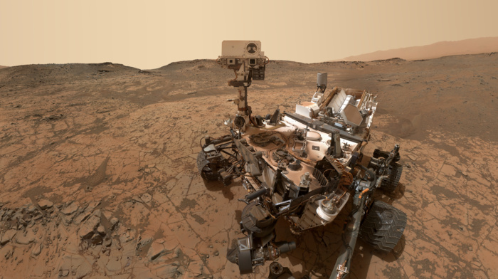 space, Mars, Rover, brown, NASA, planet, desert, stone, robot