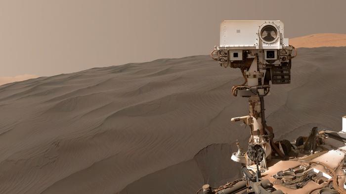 Mars, stone, desert, brown, Rover, planet, Curiosity, NASA, robot, space