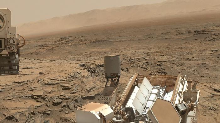 Rover, desert, space, brown, stone, Mars, planet, NASA, robot