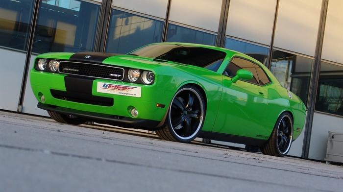 Dodge, car, SRT, Dodge Challenger, green cars