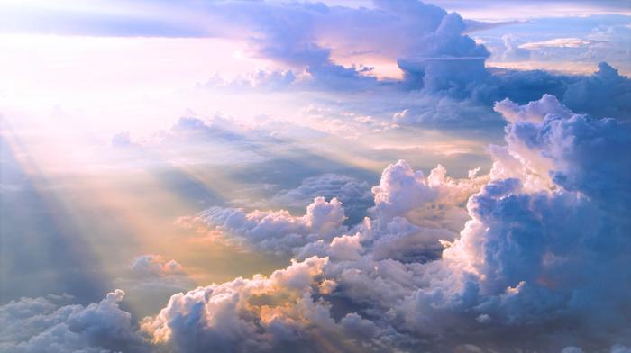 blue, sky, Sun, clouds, white