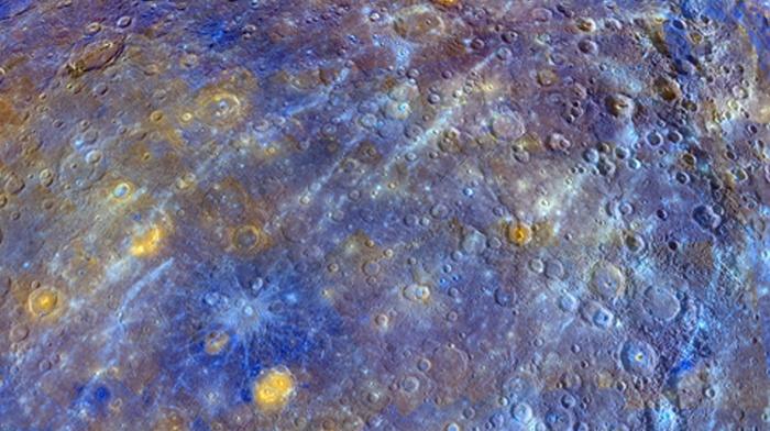 gold, Sun, blue, MESSENGER, black, Mercury, space, NASA, planet