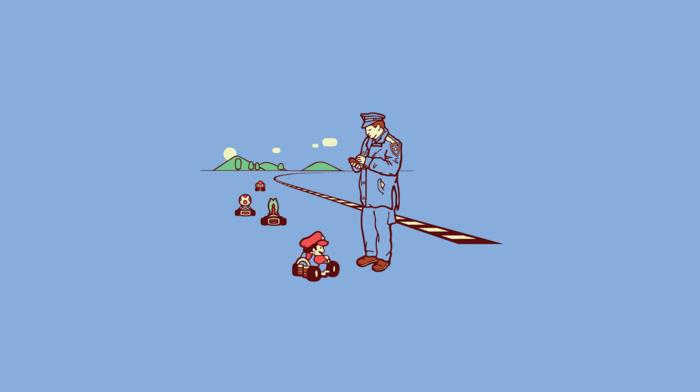minimalism, Mario Kart, Super Mario, video games