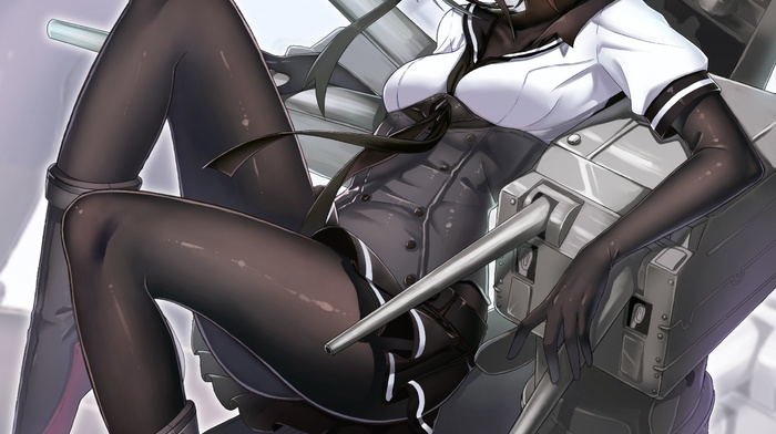 Kantai Collection, short hair, heels, anime girls, Hatsuzuki KanColle, anime