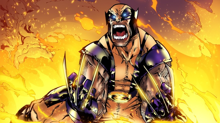 fire, Wolverine, Marvel Comics, x, men