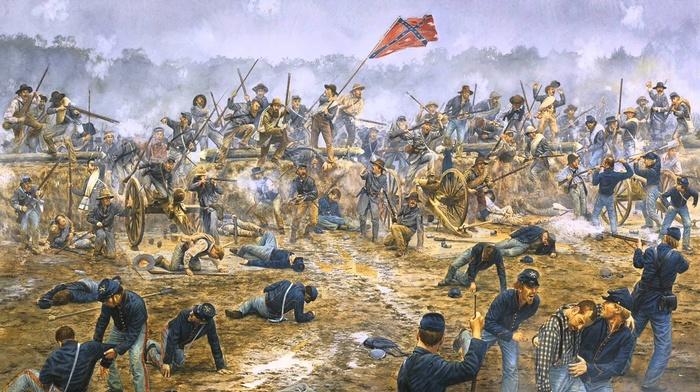 american civil war, battle, war, Confederate States of America, USA