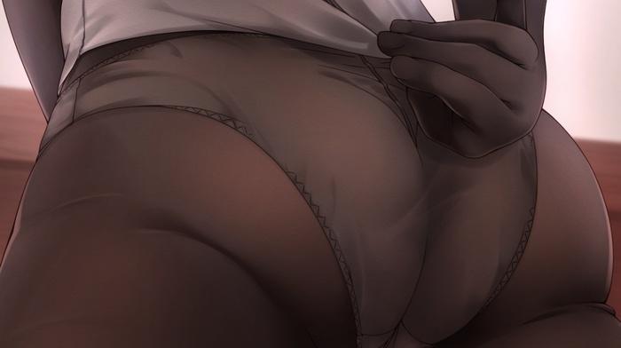 pantyhose, ass, Kantai Collection, panties, Hatsuzuki KanColle