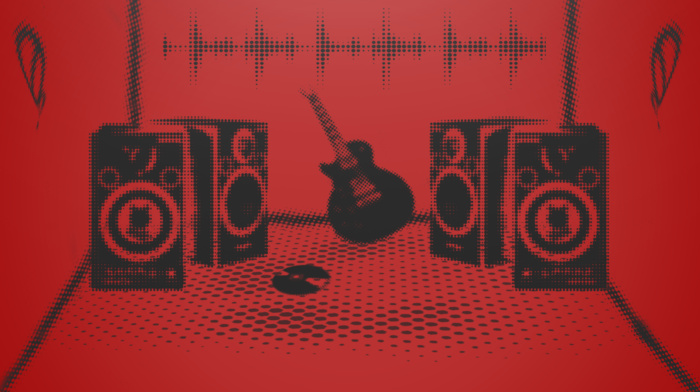 black, electric guitar, Music is Life, music, guitar, studios, bass guitars, red