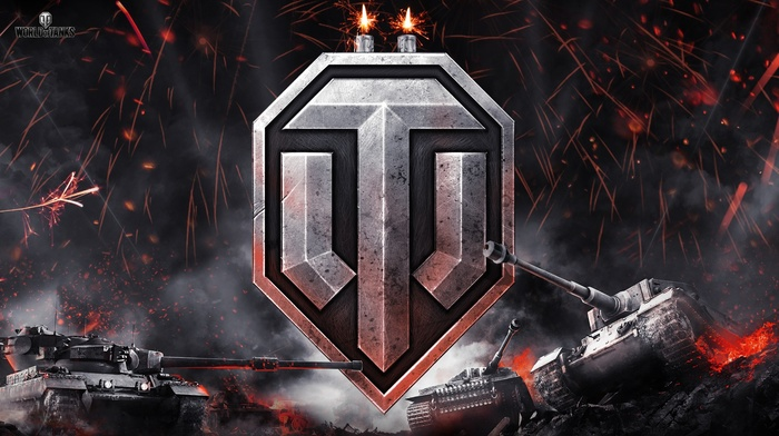 video games, tank, World of Tanks, logo