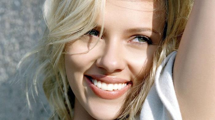 Scarlett Johansson, girl, actress, celebrity, smiling