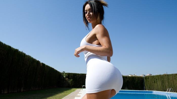 Franceska Jaimes, girl, bangbros, pornstar, ass, looking back, micro dress