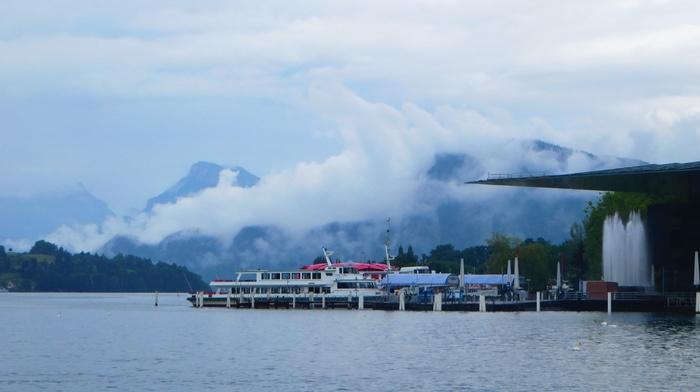 clouds, Switzerland, water, Luzern