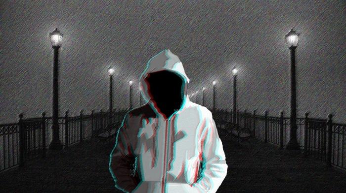 black, horror, night, 3D, dark, rain