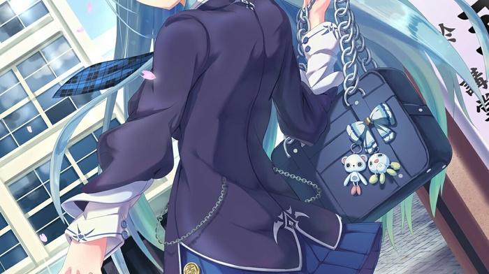 long hair, anime girls, anime, blue hair