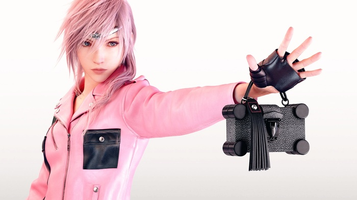 pink, girl, render, Louis Vuitton, Claire Farron, artwork