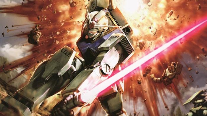 RX, 78 Gundam, mech, gundam, robot