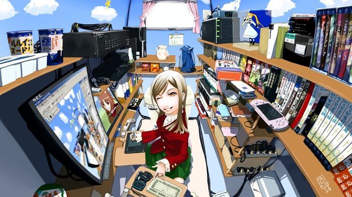 computer, calm, anime, anime girls