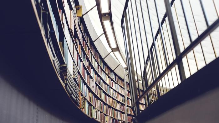 library, architecture, building, books