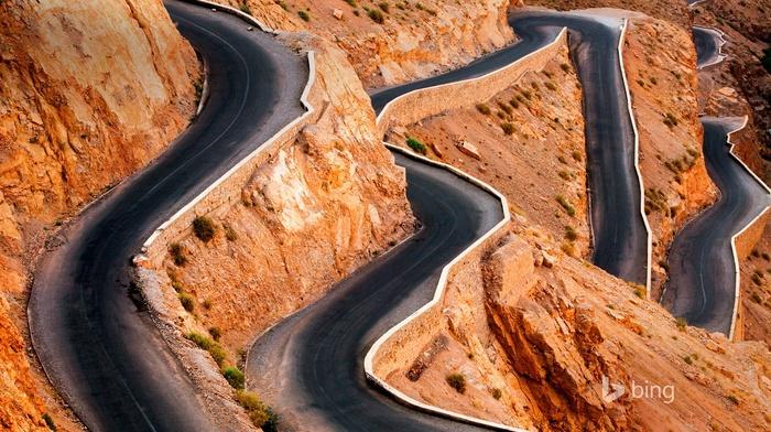 rock, Morocco, stones, Atlas Mountains, road, landscape