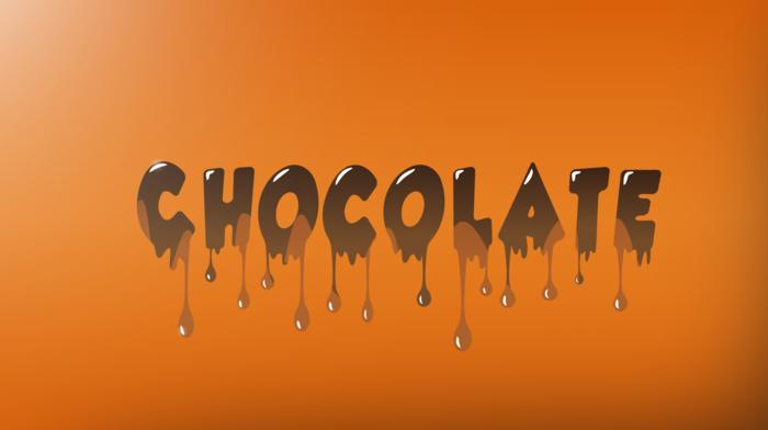 chocolate, spectrum, splashes, IT design, orange, text