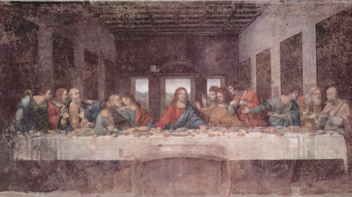 the last supper, painting, 12 Disciples, religious, Jesus Christ
