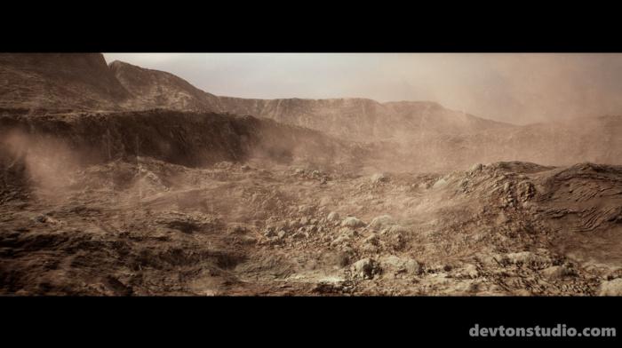 CGI, desert
