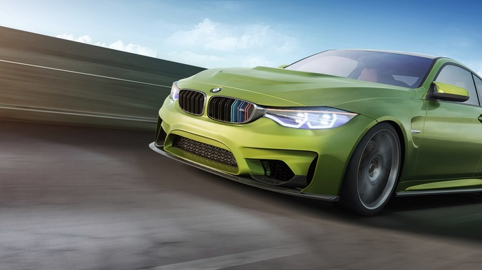 car, render, BMW M4, corona render