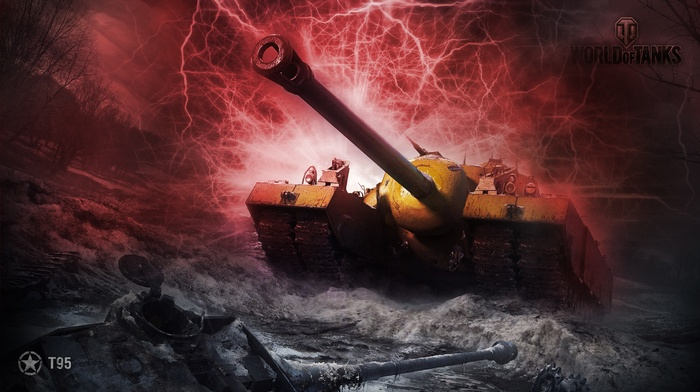 tank, electric, explosion, red, T95, abstract