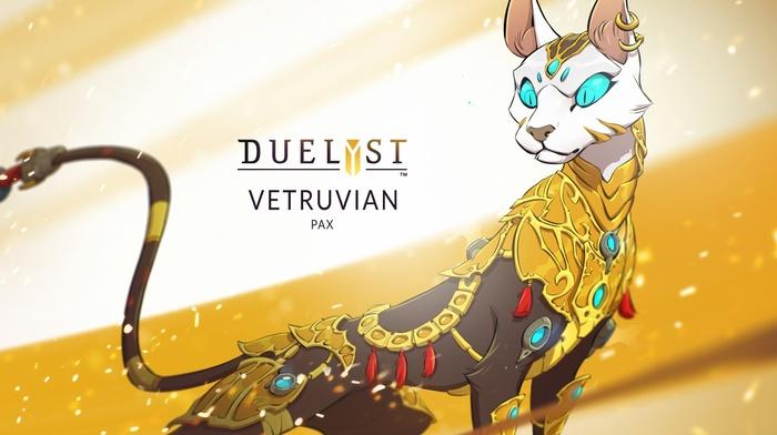Duelyst, cat, digital art, concept art, artwork